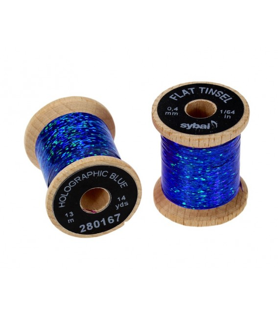Flat tinsel Holographic Blue