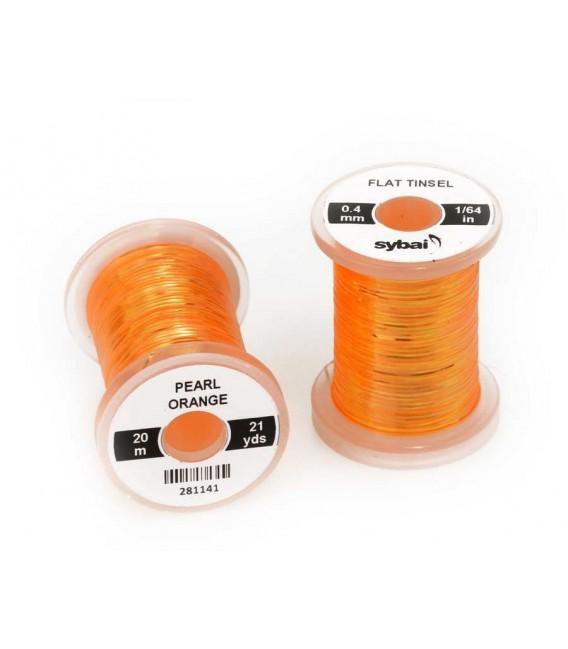 Flat tinsel Pearl Orange