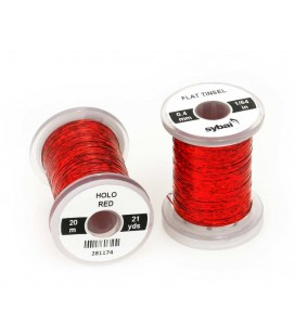 Flat tinsel Holographic Red