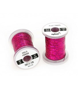 Flat tinsel Holographic Cerise
