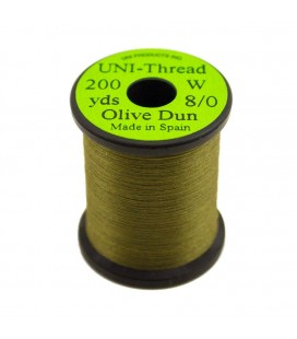 UNI Thread 8/0 Olive Dun