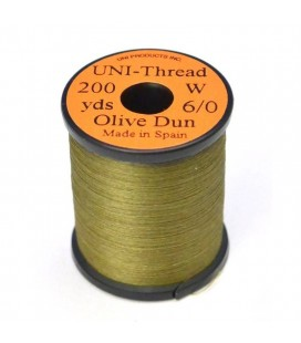 UNI Thread 6/0 Olive Dun