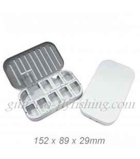 Boite mouches aluminium 10 cases